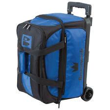 Brunswick Blitz Double Roller 2 Ball Bowling Bag Blue