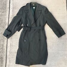Vintage Belted US Army Korean War OG-107 Winter Trench Coat Removable Liner