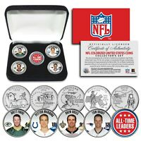 NFL All-Time Touchdown Pass Leaders State Quarters 5-Coin Set with BOX - Brady
