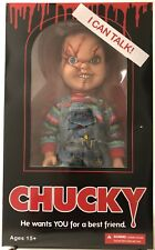"Mezco Toyz Talking Scarred Chucky Mega Scale 15"" Doll Good Guys Child Play New"