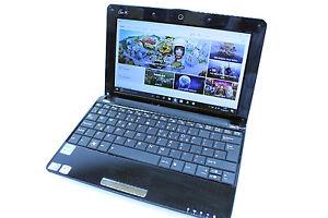 "Asus laptop netbook 10.1"" 160GB Intel Atom 1.66GHz 2GB Webcam Windows 10"