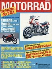 18/82 MOTO 1982 BMW r80gs Kramer mc250 Roberto Gallina gs650g KATANA gpz1100