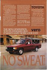 vintage TOYOTA truck 1983 print ad magazine photo page clipping car automobile