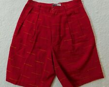 EUC Willi Wear Mens 30 (Measures 28) Bermuda Pleated Red Shorts - D4019