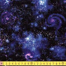 Robert Kaufman Fabric Stargazers Galaxy Nightfall PER METRE Space Stars Solar Sy