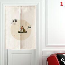 Chinois RIDEAU DE PORTE NOREN Porte cloison Zen BOUDDHISTE Coton Lin Rétro NEUF