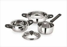 Stainless Steel Cookware Set, 4-Pieces, Silver Stylish Serve-ware