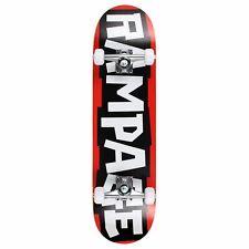 "Rampage Skateboards Block Logo Beginners Complete Black 8"" x 31"" Skateboard"