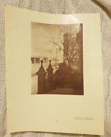 Flinders St, Melbourne OR Valley of Shadows, Bulla, Vic - 1929 Magazine Print