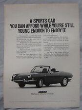 1971 Fiat 850 Spider Original advert No.1