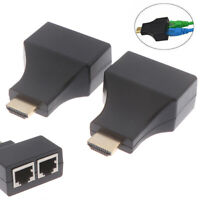 1Pair HDMI Dual RJ45 CAT5E CAT6 UTP LAN Ethernet HDMI Extender Repeater J YK