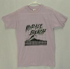 Vtg 80's Myrtle Beach Ocean Wave Graphic Soft Thin T-shirt Sz Med Purple Usa