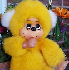 Vintage Atlanta Rubber Face Plush thumb sucker yellow in Great Condition USA 10""