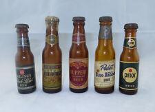 5 Rare VTG Glass Mini Beer Bottles: Carlings Fehr's Ruppert Pabst Prior