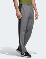 Adidas Sweatpants Gray Mens Small Authentic Essentials 3 Stripes Tricot Training