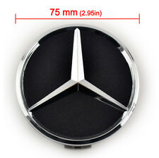 Black 75MM MERCEDES AMG CENTER WHEEL CAP E250 C250 A250 C200 E350 C200 E250