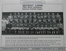 1952 Detriot Lions Nfl Champion Photo Walker Layne