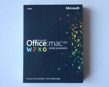Office 2011 Home and Business Vollversion, deutsch, SKU: W6F-00189 für MacOS