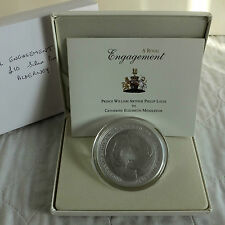 ALDERNEY 2010 WILLIAM & CATHERINE ENGAGEMENT £10  5oz .999 FINE SILVER PROOF
