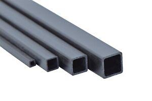 CFK Vierkant Rohr 3-10mm 100mm 300mm 600mm 1000mm Carbon Karbon