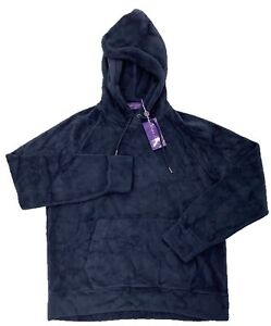 $800 Ralph Lauren Purple Label Navy Blue Hooded Sweater Large Made in Italy