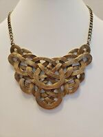 Vintage/ Gold Plated Bib/Statement/Ethnic/Egyptian Influence/Choker/Necklace