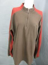 The North Face Size M Mens Brown/Red Outdoor Half-Zip Fleece Pullover T526