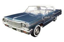 1964 CHEVROLET IMPALA SS 409 AQUA GREEN 1/18 DIECAST MODEL CAR AUTOWORLD AMM1219