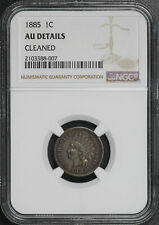 1885 Indian Head Cent NGC AU Details Cleaned