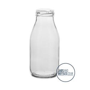 250ml Retro Milk Bottles prefect for juices, dressings & milkshakes inc caps