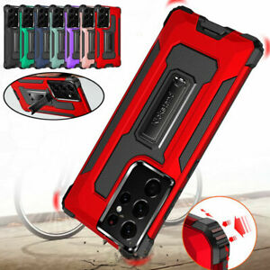 Armor Hybrid Shockproof Holder Hard Phone Case Cover for Samsung A52 A72 S21 A12