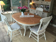 Farmhouse Up to 6 Seats Table & Chair Sets with Extending