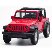 1:32 Jeep Wrangler Rubicon Off-road SUV Car Model Metal Diecast Toy Vehicle Red