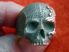 DAVID YURMAN Mens LARGE Sterling Silver Waves Skull Ring SIZE 10