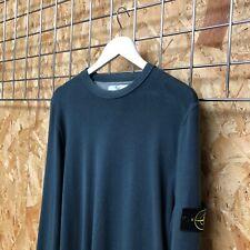 Stone Island Fine Knit Crewneck Jumper/Sweater - L LARGE - Petrol blue