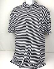 Dunning Golf Mens L Short Sleeve White Windsor Blue Performance Shirt(s3)