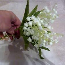 Lily of the valley artificial bunch of flowers realistic home or bridal craft