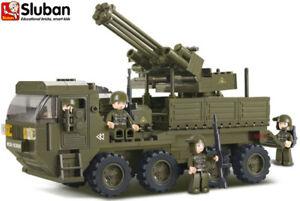 Sluban Kids Toy Military Air Gun Army Truck Tank Building Bricks Blocks B0302