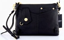 NWT BOTKIER LAFAYETTE LEATHER 4 POCKET ZIP CROSSBODY BAG WITH CARD SLOTS BLACK