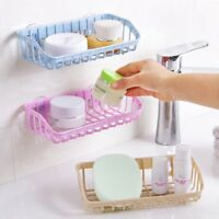 1x Kitchen Bathroom Rack Sink Storage Double Suction Cup Sponge Shelf Drain Rack