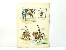 4 Original Watercolour Paintings 17th Lancers Uniform 1869 After Elsworth #RGA