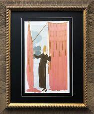 """Erte """"Cloudy Morning"""" Newly CUSTOM FRAMED Print Art Deco Design"""