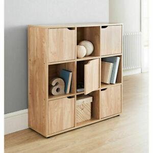 2/3/4/5/6/9 Tier Cube/Drawers Shelves Storage Unit Bookcase Cabinet Woven Basket
