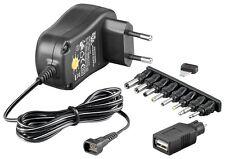 EcoFriendly Universal-Schaltnetzteil 1000mA umschaltbar 3V -12V USB Adapter
