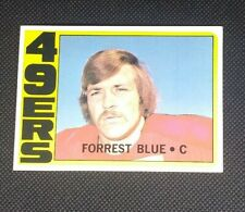 1972 Topps Rookie Forrest Blue #38 Football Card