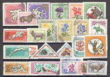 R9910 - MONGOLIA 1960 - LOTTO 22 DIFFERENTI TEMATICI DEL PERIODO - VEDI FOTO