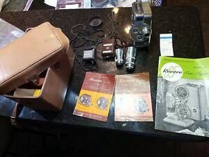 Revere 8mm Movie Camera Model 44 With Lenses, Manuals & Accessories.