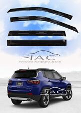 For JEEP Compass 17-19 SUV Window Visor Vent Sun Shade Rain Guard Door Visor