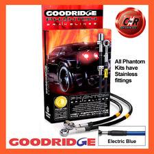 Honda Civic ED7 1.6 RrDrums 90-91 SS El Blue Goodridge Brake Hoses SHD0003-4C-EB