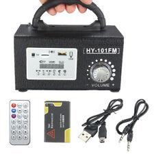 Portable Wooden Stereo FM Radio Speaker MP3 Musica Player USB TF Remote Basso